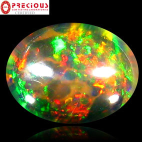 €129 2.76CT Certified Multicolor Black Opal