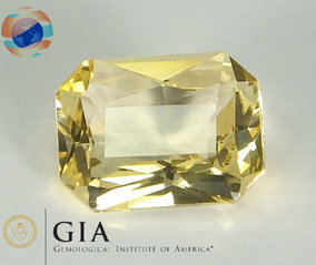 €950 GIA Certified Yellow Sapphire 2.01CT