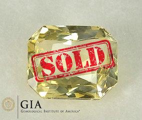 €1500 3.05CT GIA Yellow Ceylon Sapphire