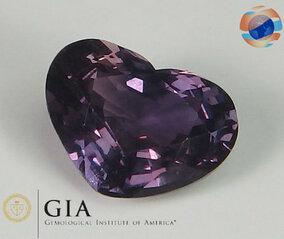 €1050 GIA Certified Pinkish Purple Sapphire 2,21CT