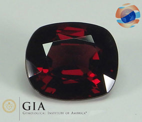 €600 GIA certified Red Spinel, 2.21 carat