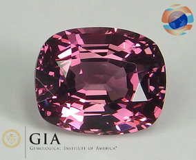 €1250 GIA Certified Pinkish Purple Spinel 2.89CT